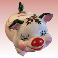 Vintage Kriess Christmas piggy bank