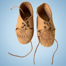 Nice Vintage leather doll shoes