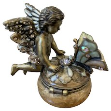 MIB Jay Strongwater Cupid fairy box