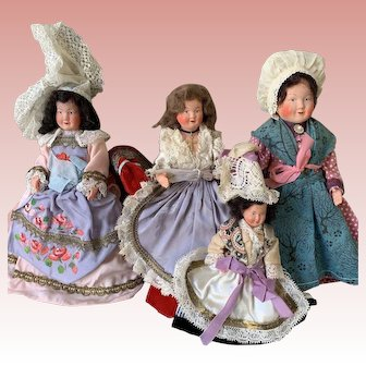 Vintage French celluloid doll collection