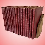 Vintage Little leather library books