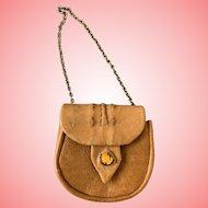 Artist leather fashion doll purse
