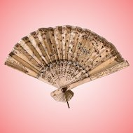 Fabulous Antique fan for French Doll