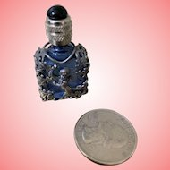 Tiny vintage cobalt perfume for Dolly