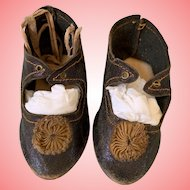 Antique French Bebe doll shoes