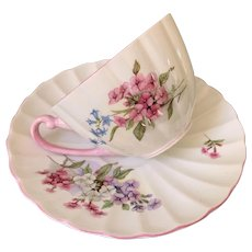 Vintage Shelley 'stocks' cup and saucer
