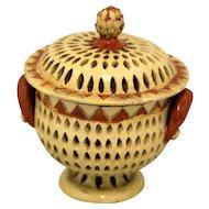 Folk Style Pottery Bowl