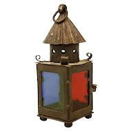 19th Century Iron & Glass Lantern