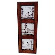 Set of Three Framed Tiles