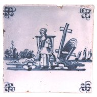 18th Century Milkmaid Tile