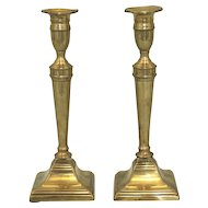 Late 18th Century Pair of Brass Candlesticks