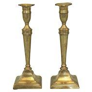 Late 18th Century Pair of Brass Candlesticks