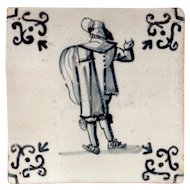 17th Century Antique Delft Tile