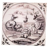 18th Century Antique Delft Tile