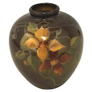 Clematis Blossom Vase marked Louwelsa Weller