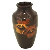 Louwelsa Weller Vase with Two Pansies