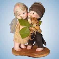 Rose O'Neill Bride and Groom Kewpie Huggers