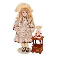 Walnut Marble Top Stand for Your Dolls