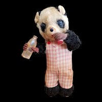 Cute Wind Up Panda Bear with Bottle and Cup