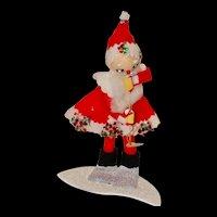 Vintage Santa Holding a Horn, Made in Japan