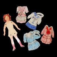 Dennison's Paper Doll with Crepe Paper Dresses
