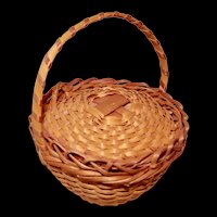 Miniature Woven Basket for Your French Fashion Doll