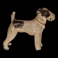 Miniature Metal Airedale for Your Dollhouse