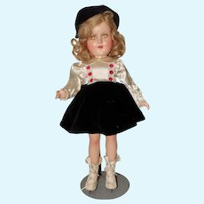 Madame Alexander Composition Sonja Henie Doll with Skis, Poles and Box