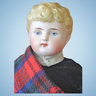 Scottish Highlander Bisque Shoulder Head Doll