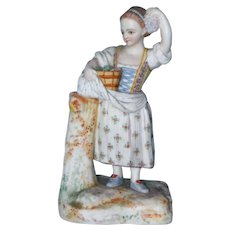 Lovely Hand Painted Bisque Figurine