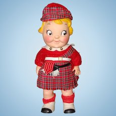 1960's Scottish Campbell Kid Vinyl Doll