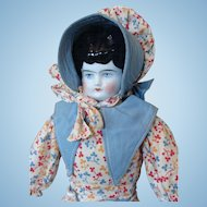 German China Head Doll Wearing Her Original Clothing