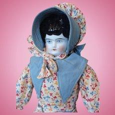 German China Head Doll Wearing Her Original Clothing