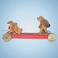 Wooden Pull Toy with Pyrography