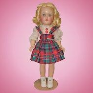 Ideal Hard Plastic P-90 Toni Doll in Original Clothing