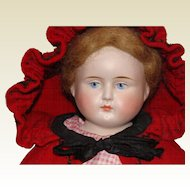German Bisque Shoulder Head Peddler Doll