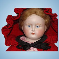German Bisque Shoulder Head Peddler Doll