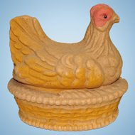 Large Pressed Cardboard Chicken Candy Container