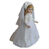 "American Character 21"" Sweet Sue Hard Plastic  Bride Doll"