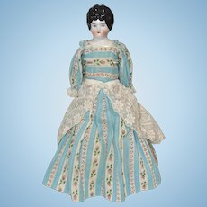 German China Head Doll Wearing a Pretty Gown