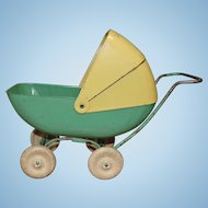 Pressed Steel Baby Doll Carriage with Rubber Wheels