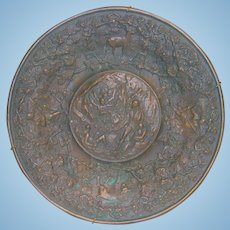 Bronze Plaque Depicting the French & Indian War in Fine Relief