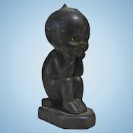 Rose O'Neill Black Kewpie Thinker Bookend