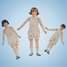 Dennison's Paper Dolls and Crepe Paper Dresses Package