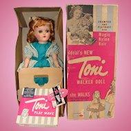 Gorgeous Ideal Hard Plastic Toni Walking Doll with Box