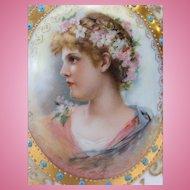 Beautiful German Porcelain Portrait Vase
