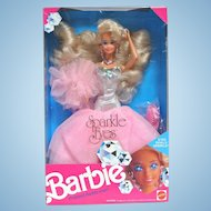 1991 Mattel Sparkle Eyes Barbie in Her Box