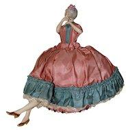 German Porcelain Half Doll with Porcelain Legs