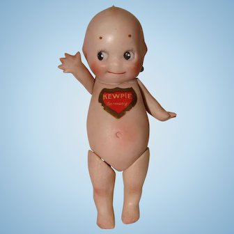 Rose O'Neill Bisque Kewpie Doll with Jointed Hips