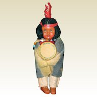 Skookum Bully Good Indian Child Doll with Celluloid Button